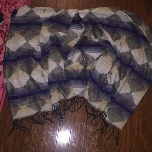 Blue Aztec poncho one size fits all
